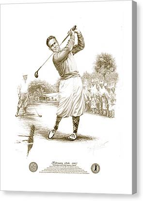 Bobby Jones At Sarasota - Sepia Canvas Print by Harry West