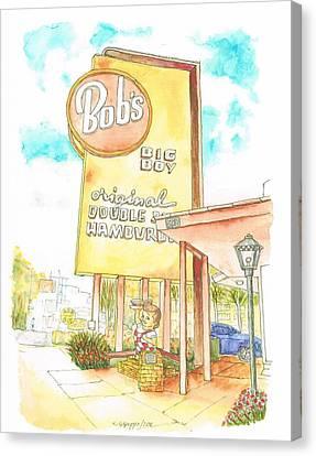 Bob's Big Boy In Burbank - California Canvas Print by Carlos G Groppa