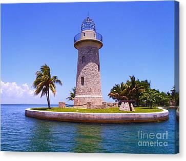 Boca Chita Lighthouse Canvas Print by Carey Chen