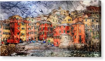 Boccadasse Canvas Print by Andrea Barbieri