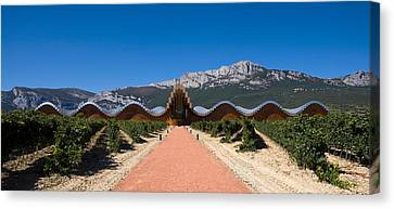 Bodegas Ysios Winery Building Canvas Print by Panoramic Images
