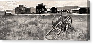Bodie Ghost Town - 03 Canvas Print by Gregory Dyer