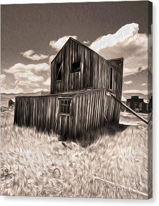 Bodie Ghost Town - Bent House 03 Canvas Print by Gregory Dyer