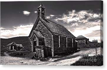 Bodie Ghost Town - Spooky Church Canvas Print by Gregory Dyer