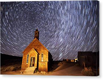 Bodie Star Trails Canvas Print by Cat Connor