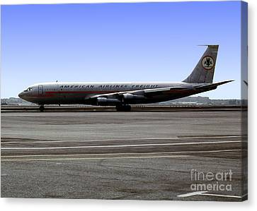Boeing 707 American Airlines Freight Aal Canvas Print by Wernher Krutein