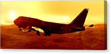 Boeing Beauty Canvas Print by Marcello Cicchini