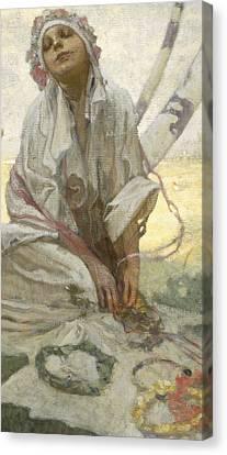 Bohemian Sun Dreamer Canvas Print by Alphonse Marie Mucha