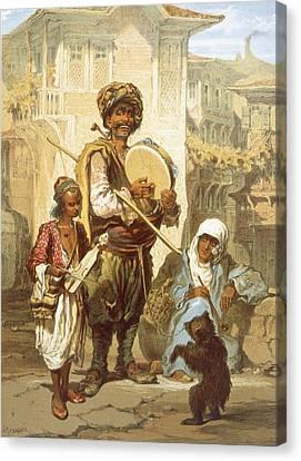 Bohemians, 1865 Canvas Print by Amadeo Preziosi