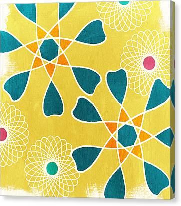 Boho Floral 3 Canvas Print by Linda Woods