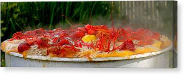 Boiling Crawfish Canvas Print by Kimo Fernandez