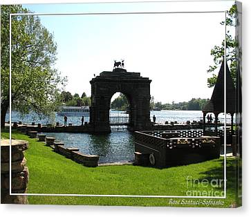 Boldt Castle Entry Arch Canvas Print by Rose Santuci-Sofranko