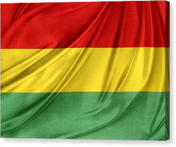 Bolivian Flag Canvas Print by Les Cunliffe