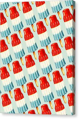 Bomb Pop Pattern Canvas Print by Kelly Gilleran