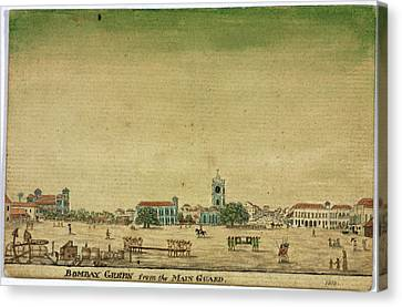 Bombay Green From The Main Guard Canvas Print by British Library