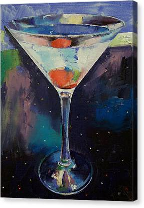 Bombay Sapphire Martini Canvas Print by Michael Creese