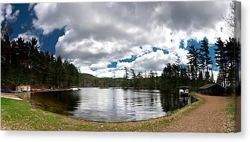 Bon Echo Lagoon Panorama Canvas Print by Cale Best