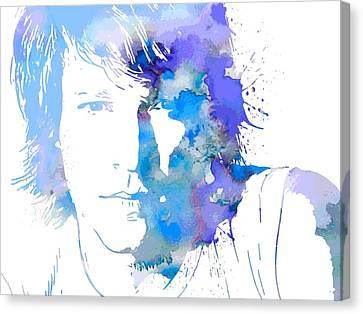 Bon Jovi Paint Splatter Portrait Canvas Print by Dan Sproul