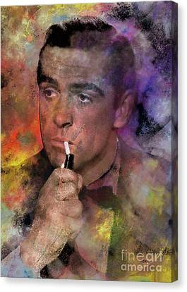 Bond - James Bond Canvas Print by John Robert Beck