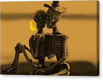 Bones In Love  Canvas Print by David Dehner