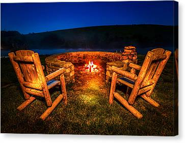 Bonfire Canvas Print by Alexey Stiop