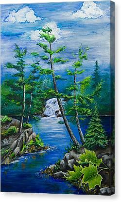 Bonnechere Falls Canvas Print by Jill Alexander