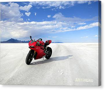 Bonneville Salt Flats 3 Canvas Print by AntiHero Panigale