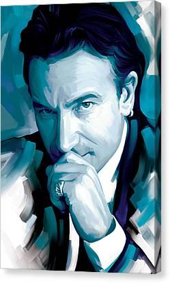 Bono U2 Artwork 4 Canvas Print by Sheraz A