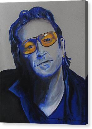 Bono U2 Canvas Print by Eric Dee