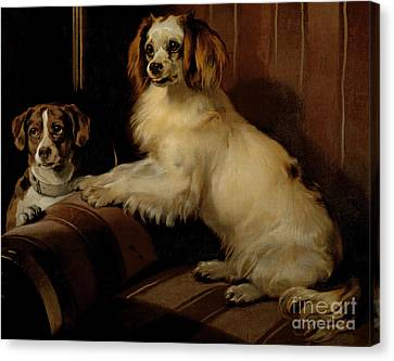 Bony And Var Canvas Print by Sir Edwin Landseer