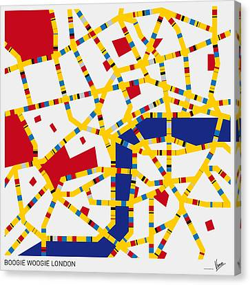 Boogie Woogie London Canvas Print by Chungkong Art