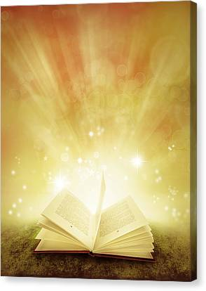 Book Of Dreams Canvas Print by Les Cunliffe