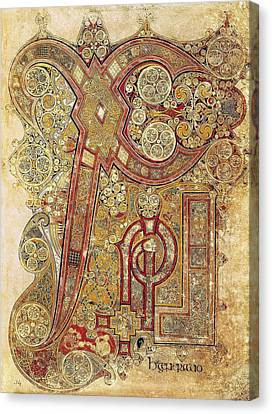 Book Of Kells. 8th-9th C. Chapter Canvas Print by Everett