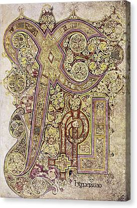Book Of Kells Christ Page Canvas Print by Granger