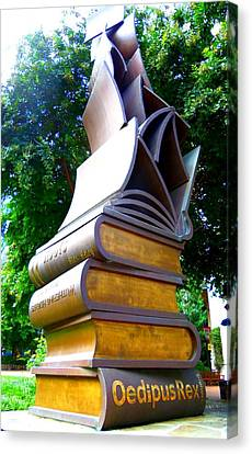 Book Sculpture 2 Canvas Print by Ron Kandt