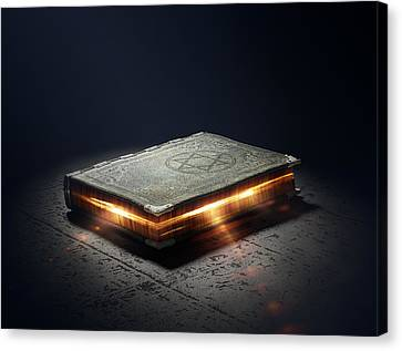 Book With Magic Powers Canvas Print by Johan Swanepoel