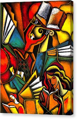 Books Canvas Print by Leon Zernitsky
