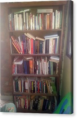 Bookshelf Canvas Print by Unique Consignment