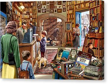 Bookshop Canvas Print by Steve Crisp