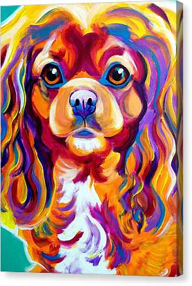 King Charles - Boonda Canvas Print by Alicia VanNoy Call