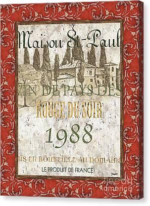 Bordeaux Rouge 1 Canvas Print by Debbie DeWitt