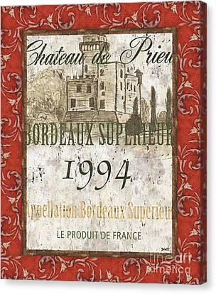Bordeaux Rouge 2 Canvas Print by Debbie DeWitt