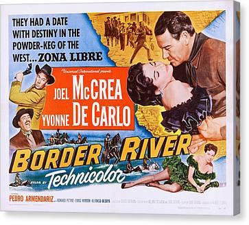 Border River, Us Poster, Far Right Canvas Print by Everett