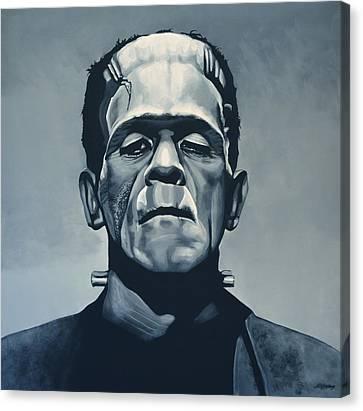 Boris Karloff As Frankenstein  Canvas Print by Paul Meijering