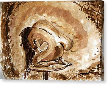 Born. Canvas Print by Shlomo Zangilevitch