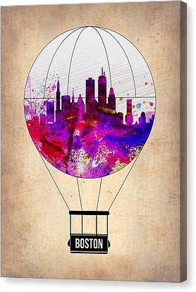 Boston Air Balloon Canvas Print by Naxart Studio
