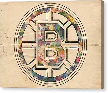 Boston Bruins Poster Art Canvas Print by Florian Rodarte