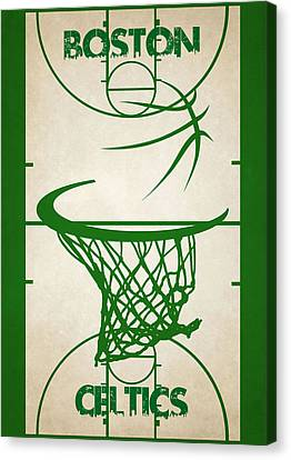 Boston Celtics Court Canvas Print by Joe Hamilton
