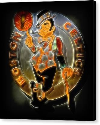 Boston Celtics Logo Canvas Print by Stephen Stookey