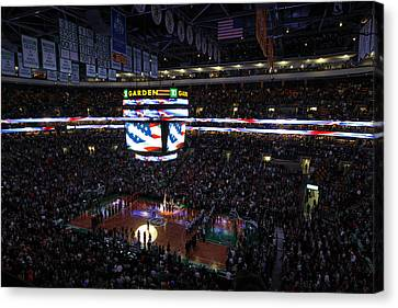 Boston Celtics Under The Star Spangled Banner Canvas Print by Juergen Roth